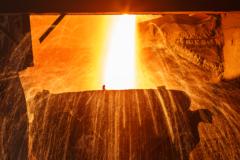 Planta de fabricación de acero
