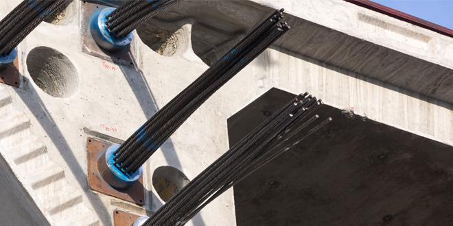 Pretensado de hormigón y alambres trenzados